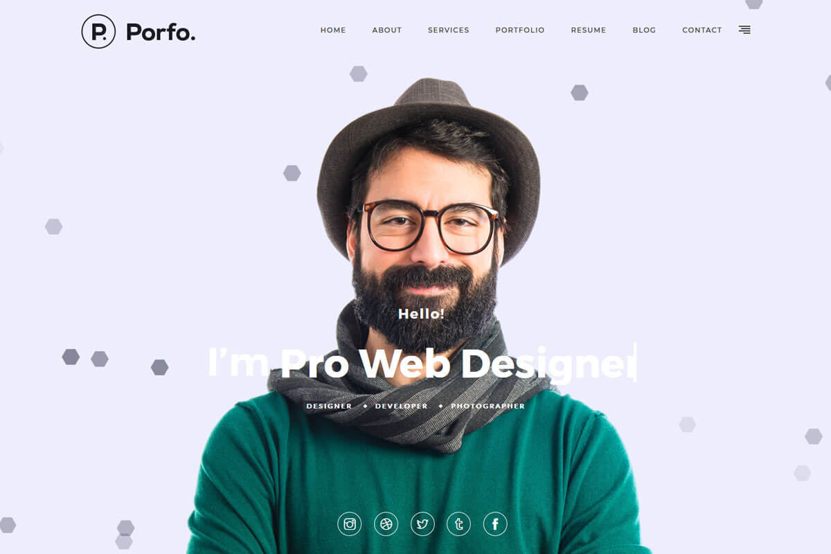 Porfo minimalist wordpress theme