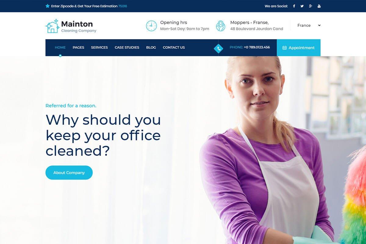 mainton wordpress theme