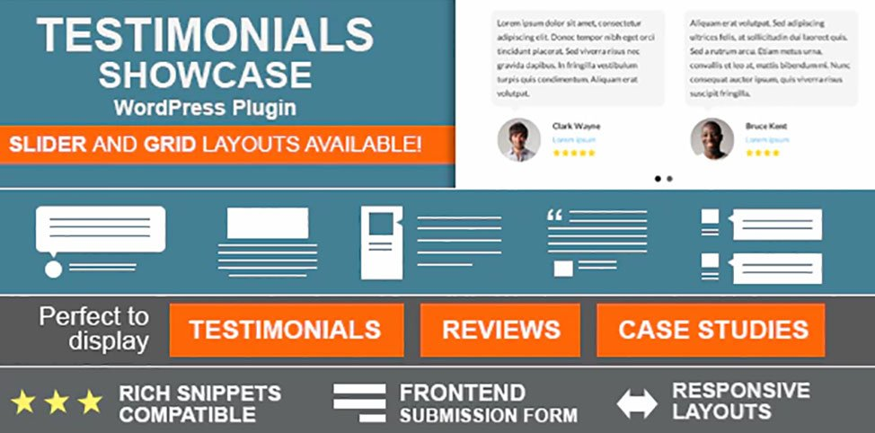 Testimonial showcase plugins