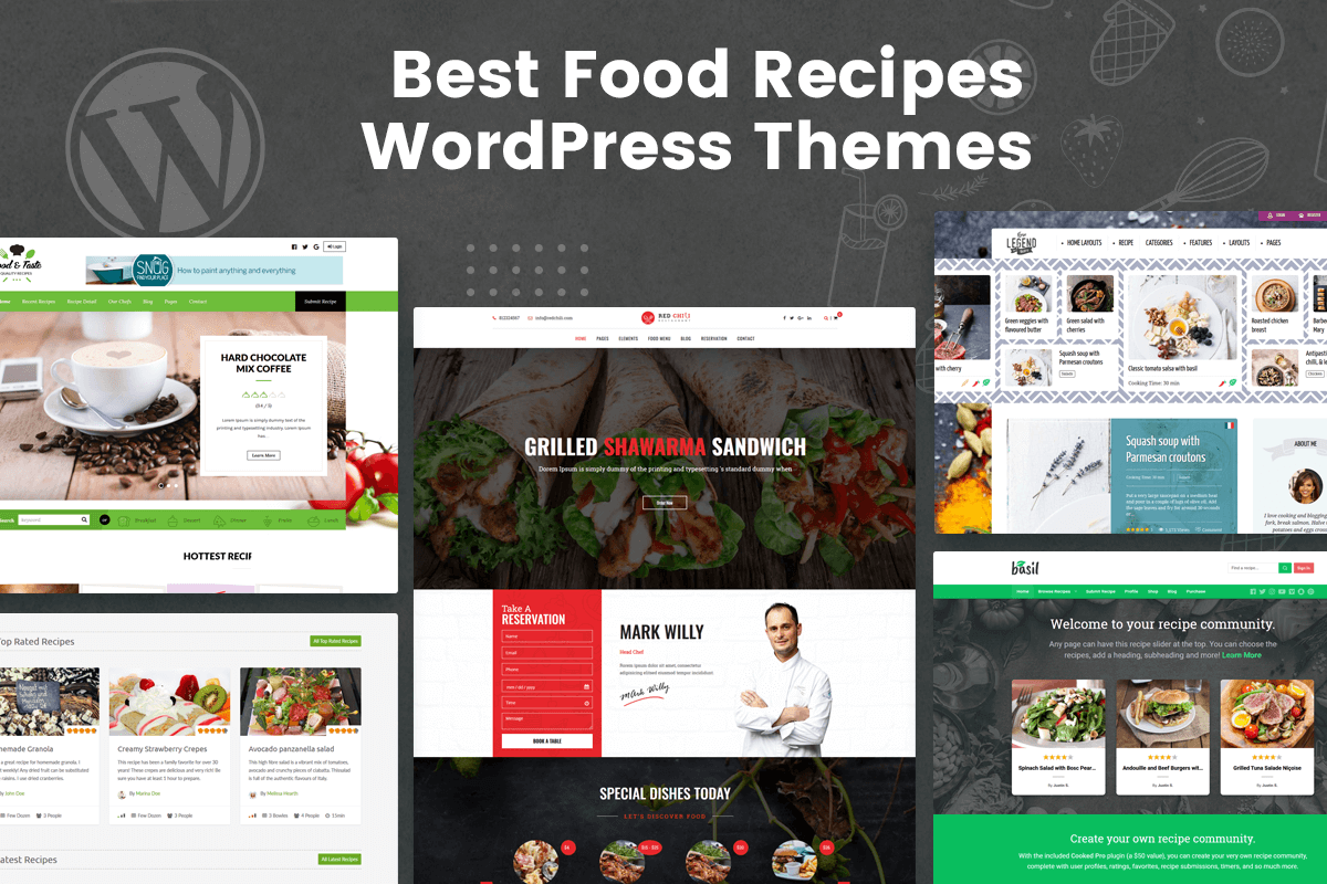 Best Food Recipes WordPress Themes