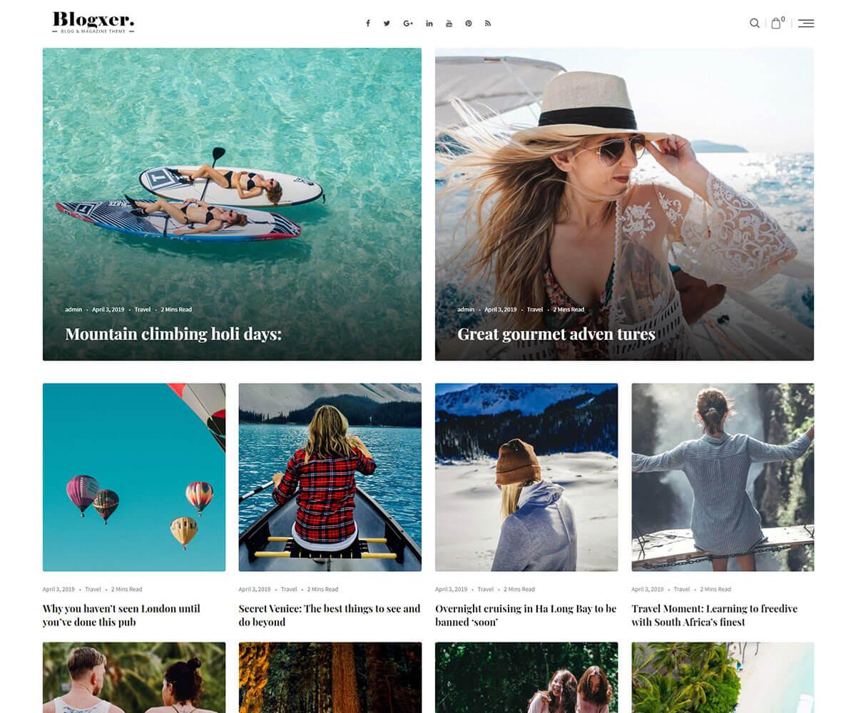 Blogxer magazine WordPress Theme