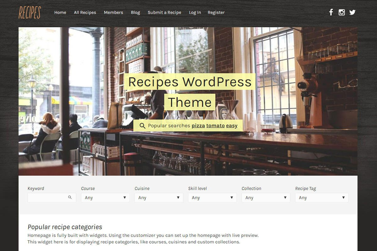 Recipes-WordPress-Theme