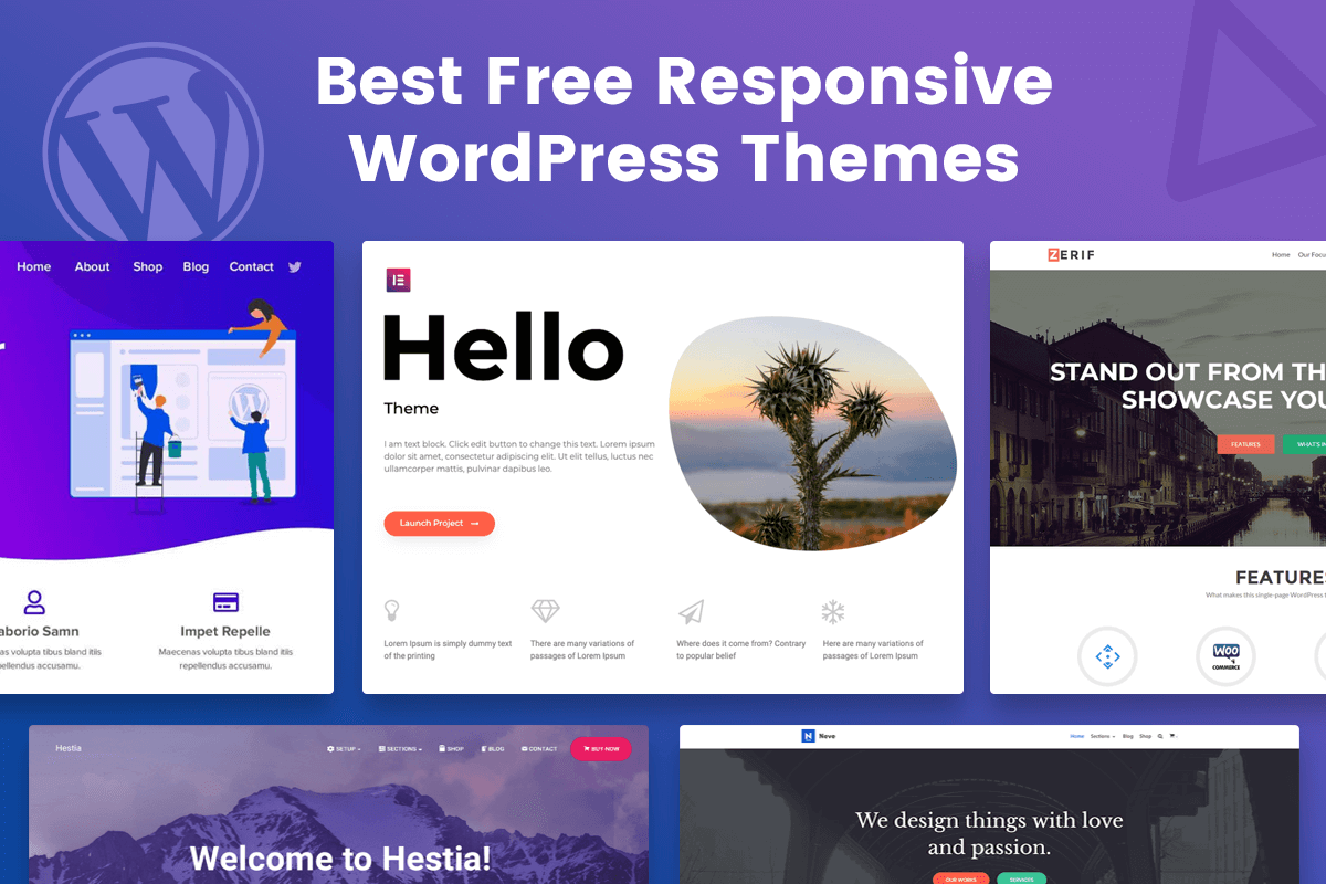 free responsive wordpress themes with demo content