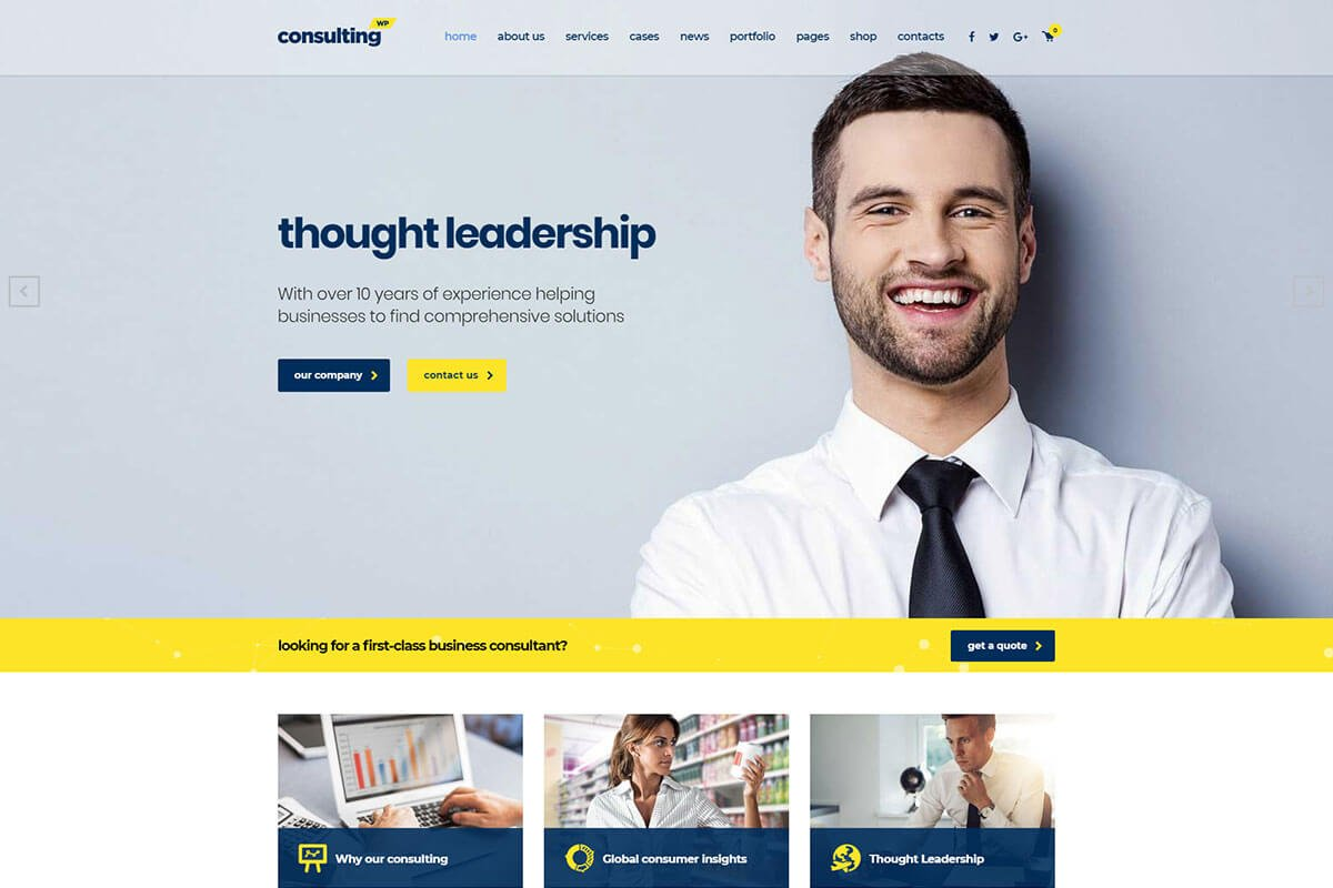 wordpress themes for consulting business