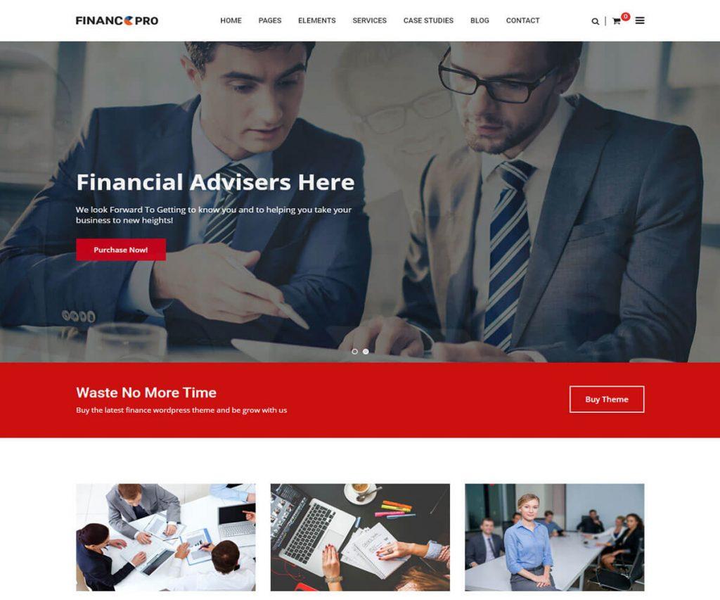 Finance-Pro business consulting wordpress theme
