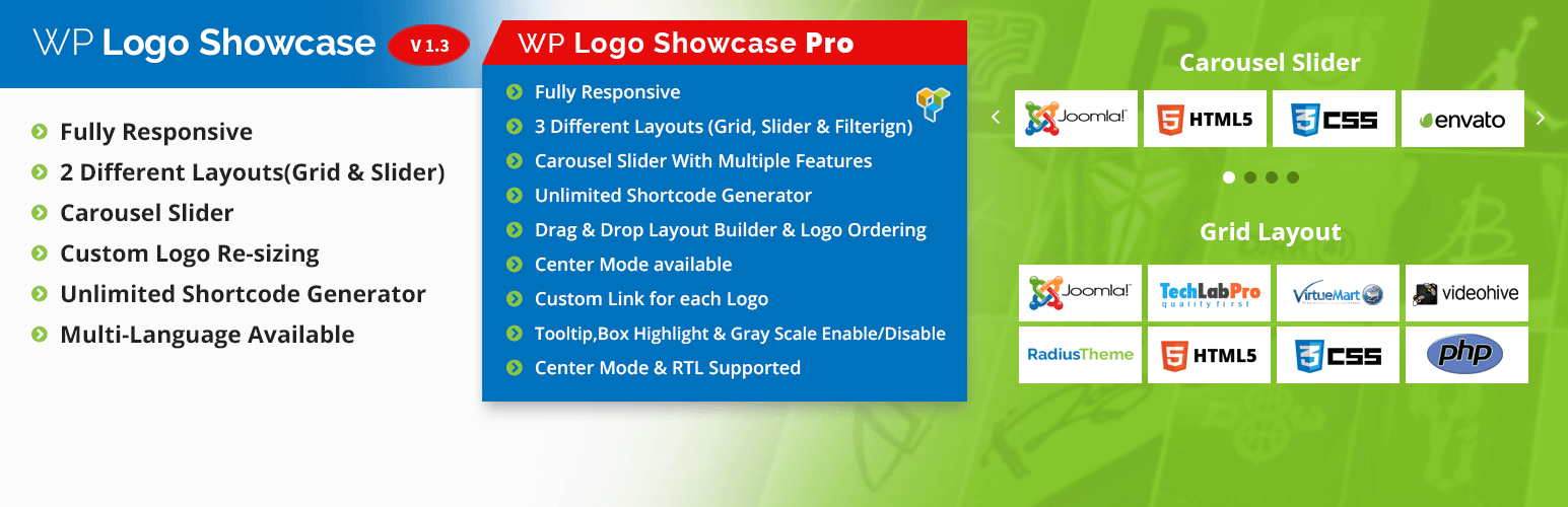 logo slider and showcase