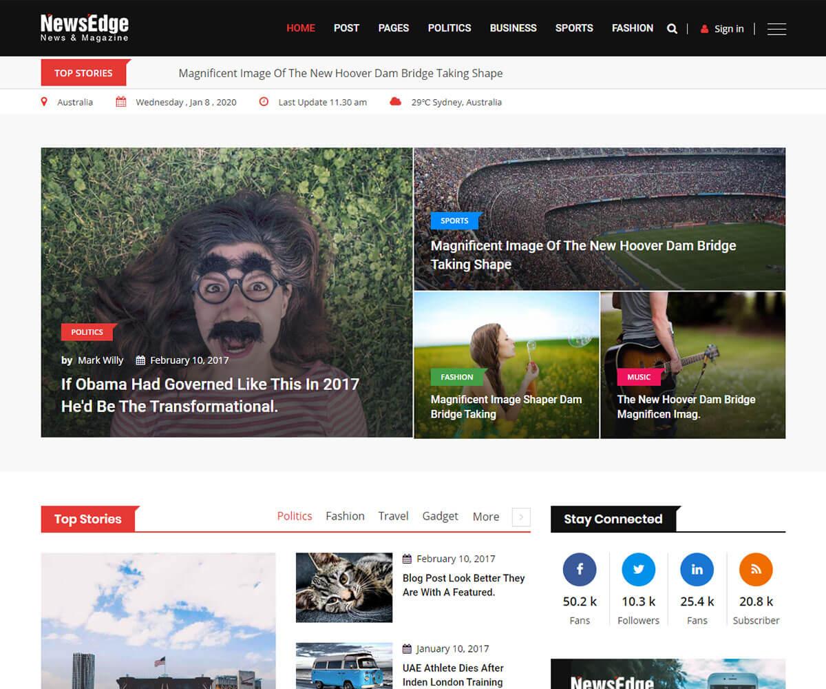 Best Responsive News Website Templates