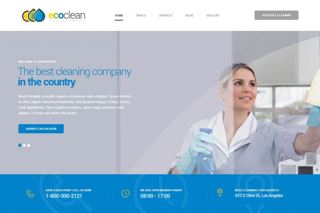 Cleaning-HTML-Template