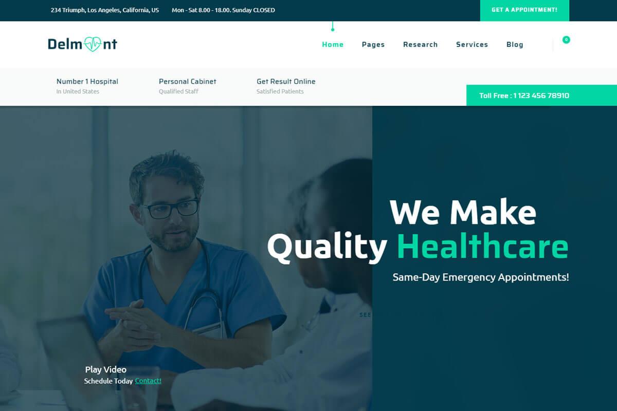 best medical website templates