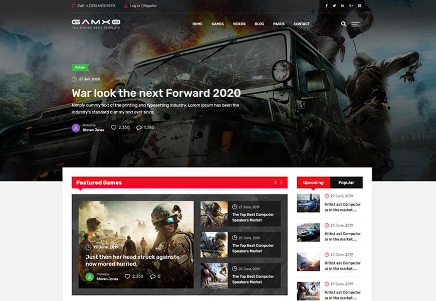 best news website templates 2020