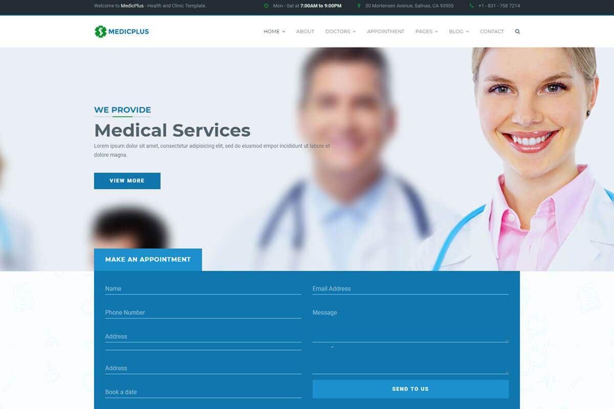 MedicPlus is another medical website templates
