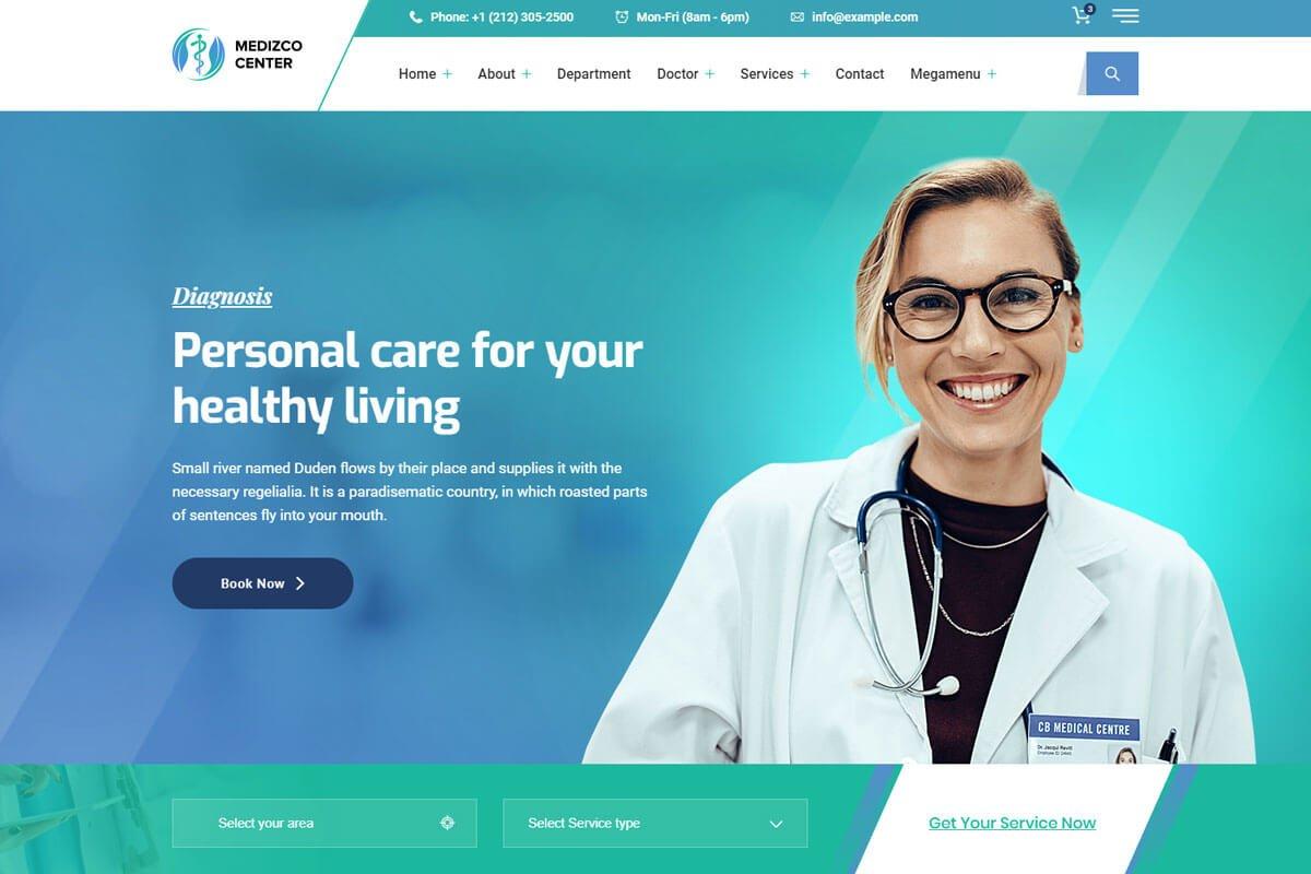 Medizco is the doctors website templates