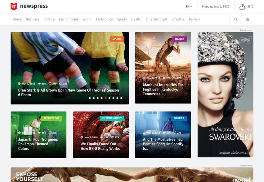 best news html templates