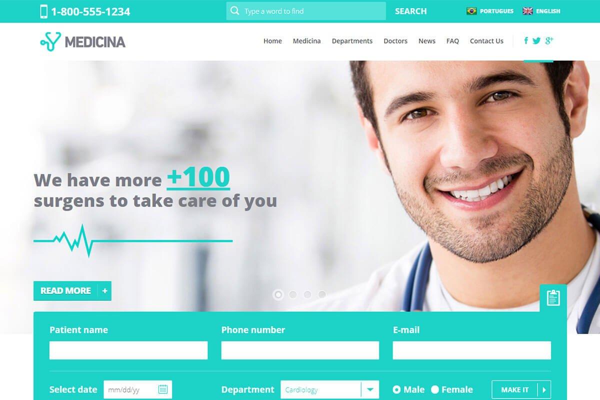 best medical website template