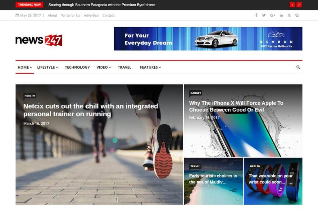 Bootstrap News Website Template