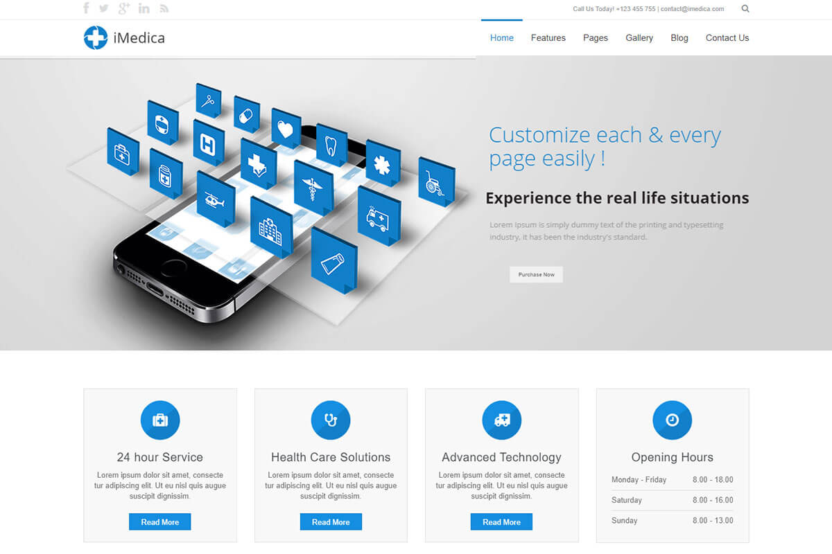 clinic html template