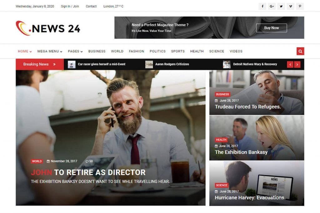 HTML5 News Website Template