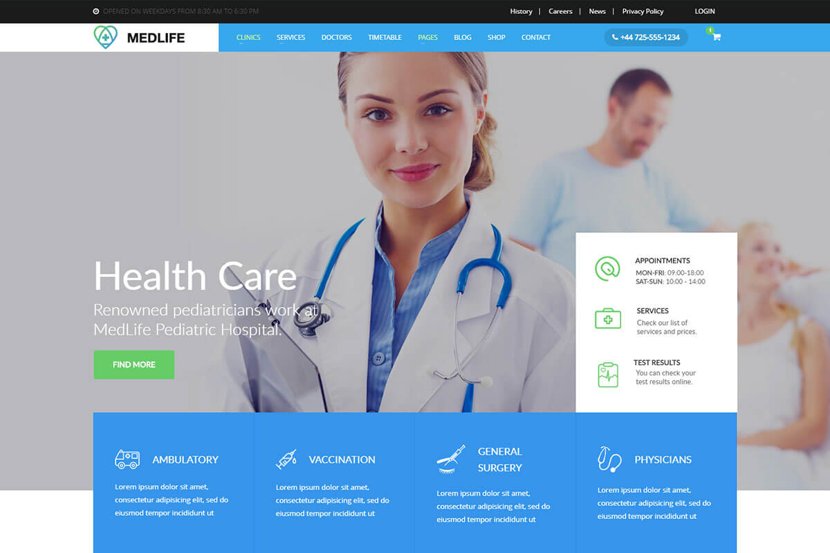 medical-html-template