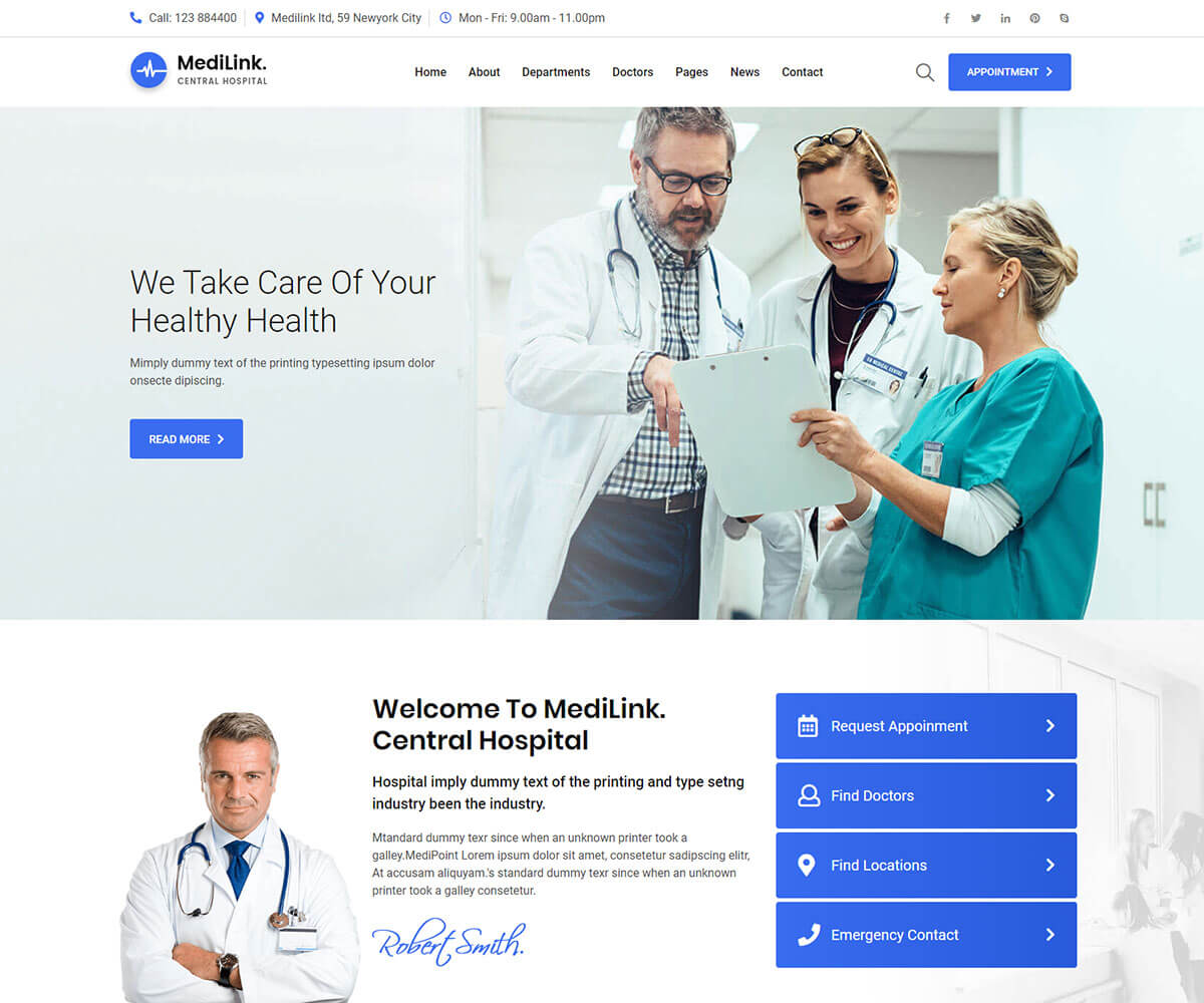 medilink templates is the best medical website template