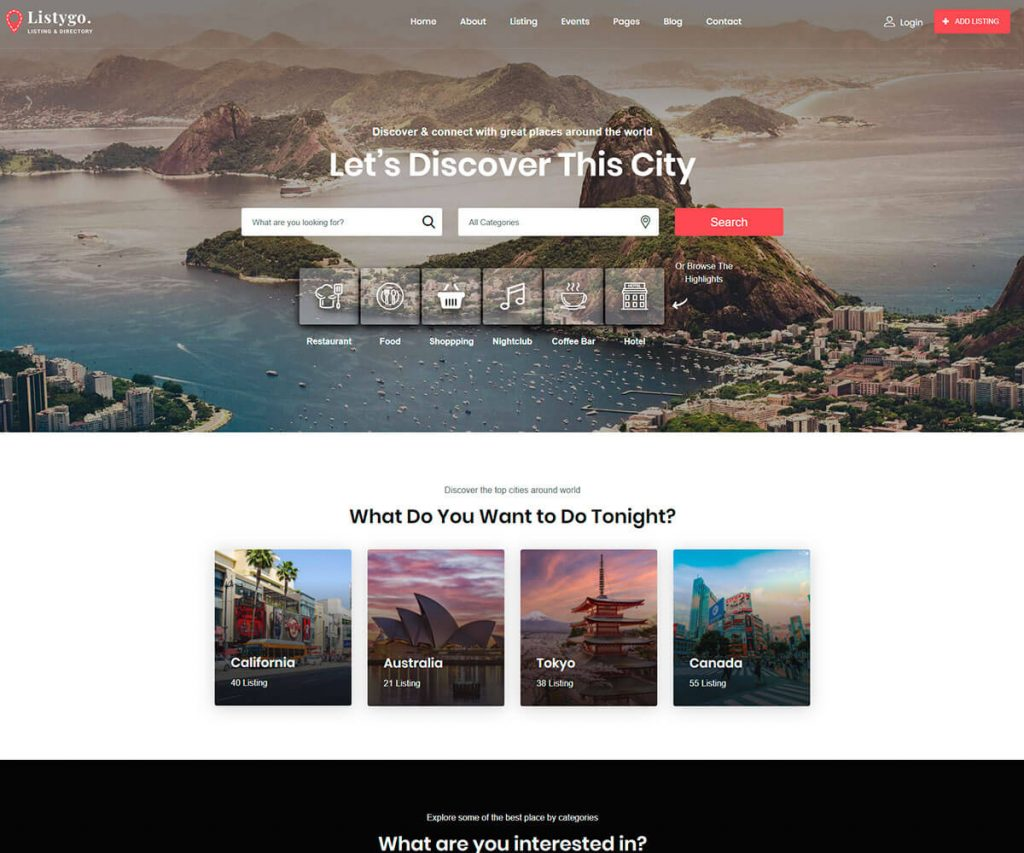 Directory HTML template