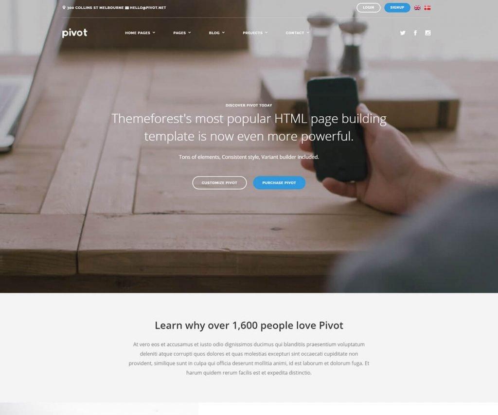 pivot html template