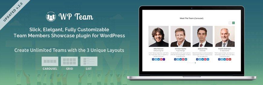team members plugin for wordpress