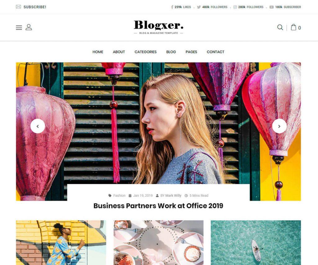 blogxer - Bootstrap Blog Template
