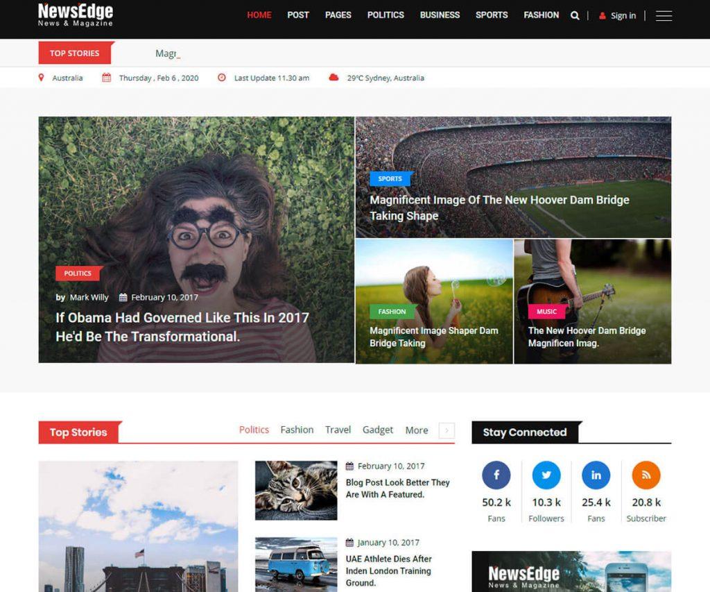 best news blog HTML template