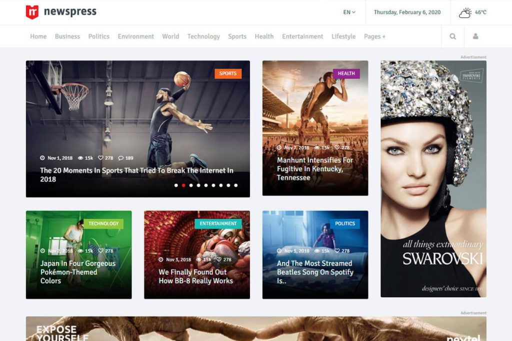 Bootstrap template for blog