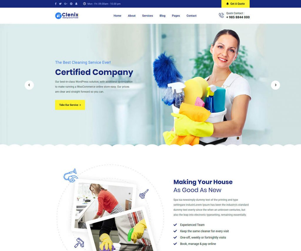 cleaning company html template