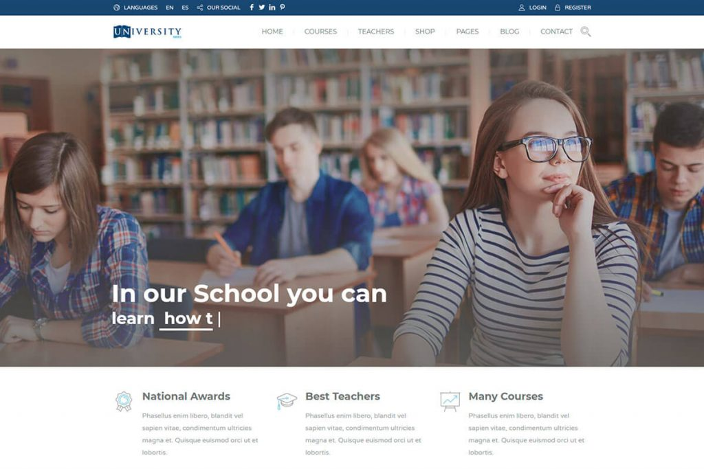 online course WordPress Theme