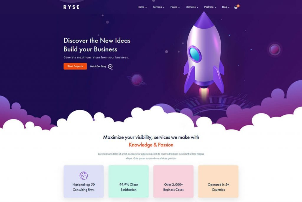 saas WordPress theme