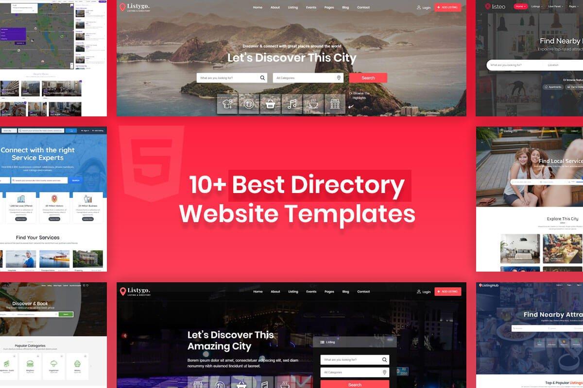 best directory website templates