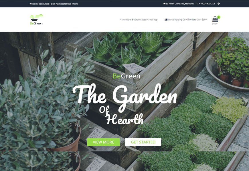landscaping wordpress theme for website