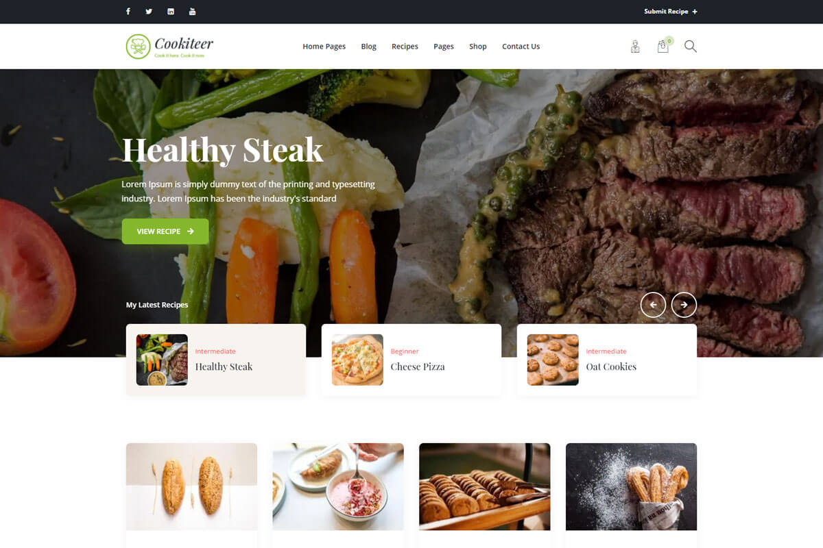Cookiteer is the food blog WordPress theme