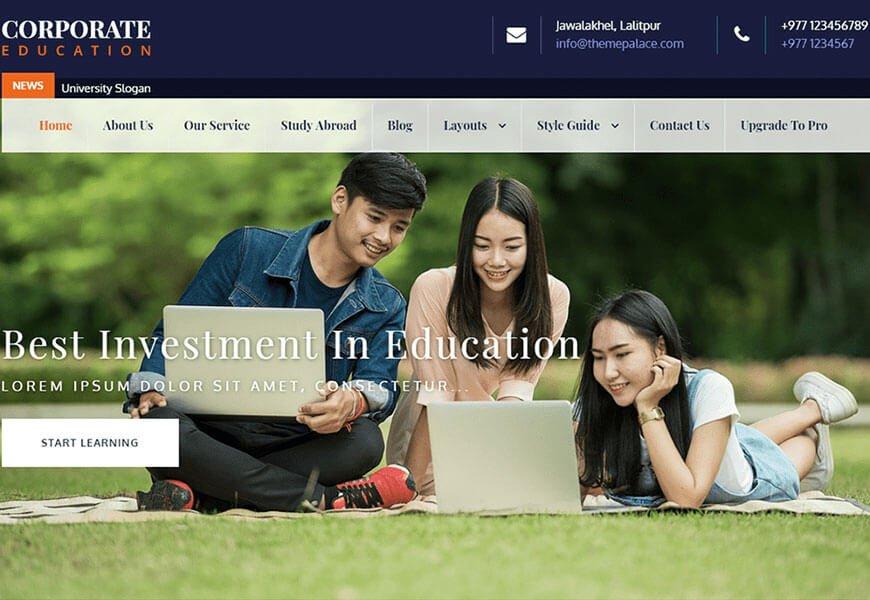 corporate education theme