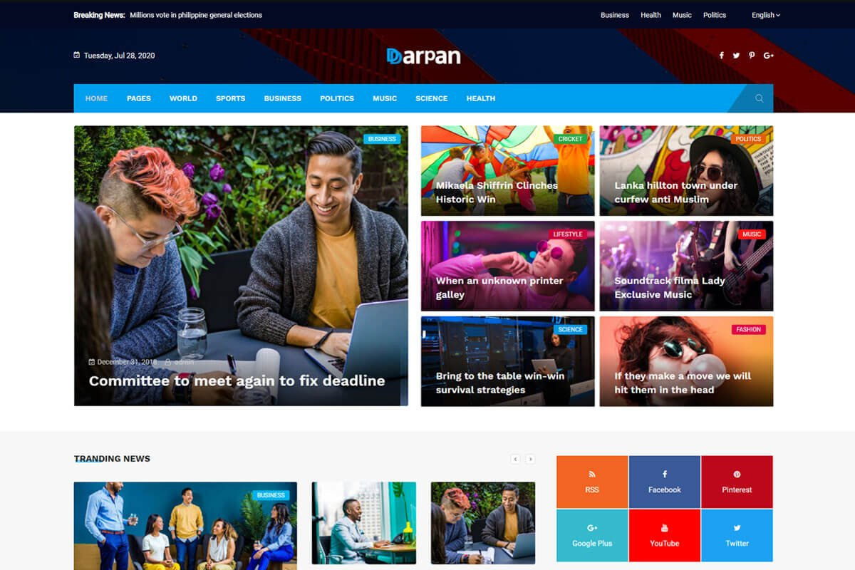 Darpan is another news WordPress theme