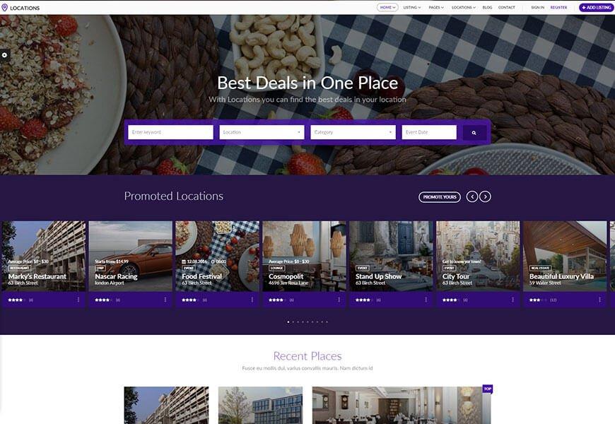 best directory website template