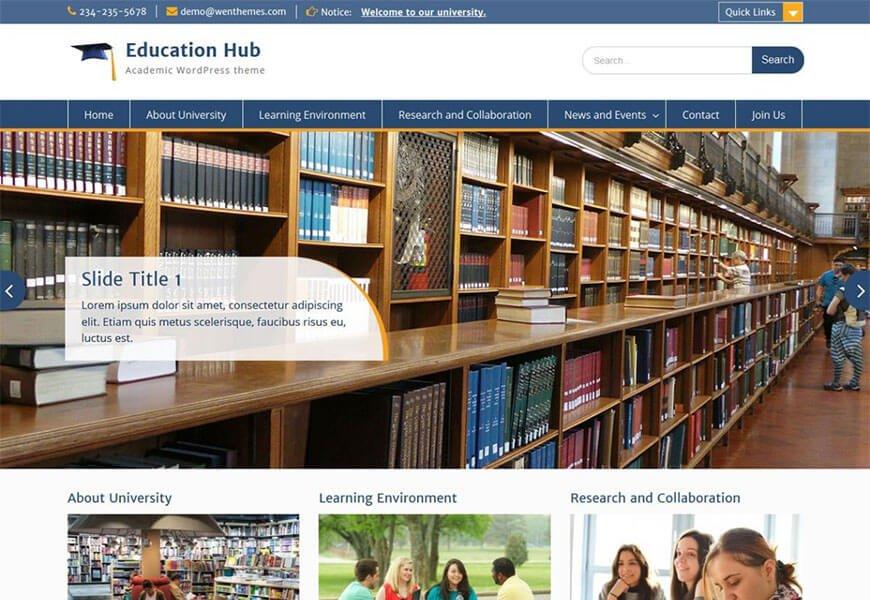 free wordpress themes for schools website
