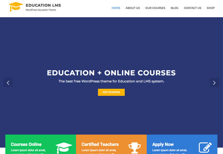education lms theme free wordpress themes for schools website