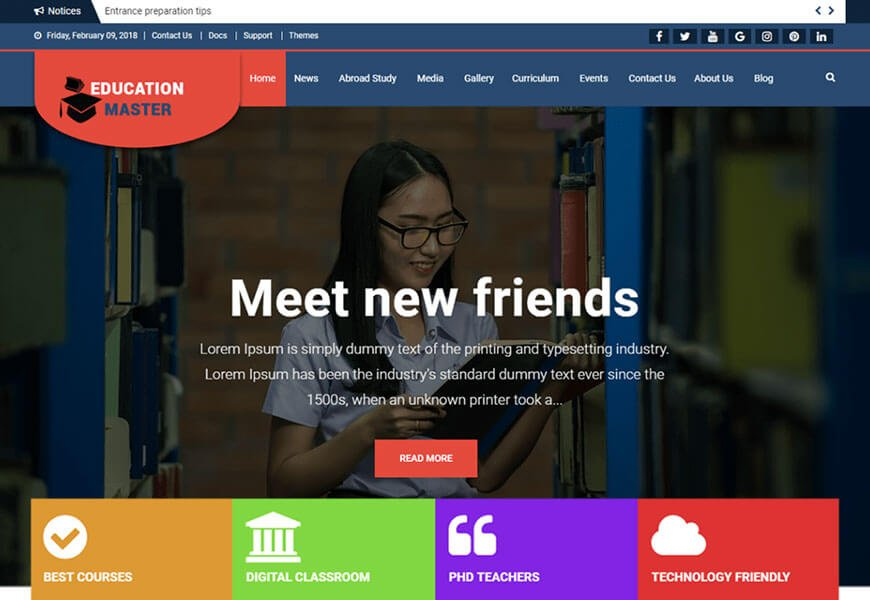 best free wordpress themes for educational websites