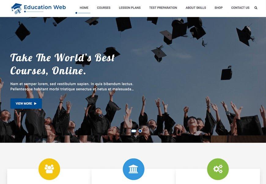 education web wordpress theme