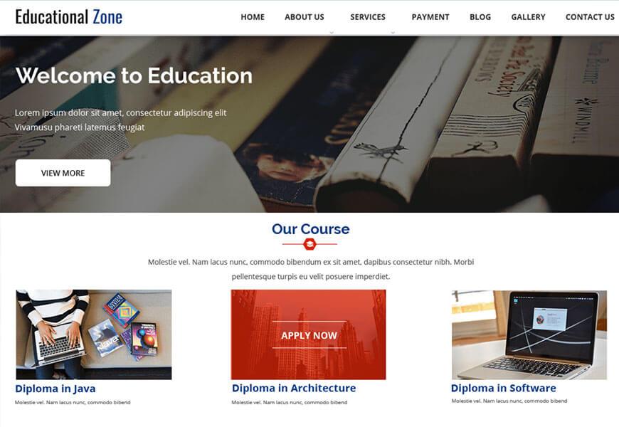 eductional zone wordpress thme