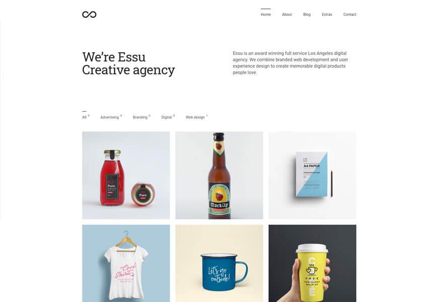 Essue is an award-winning minimal portfolio theme