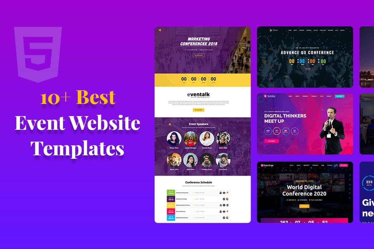 event webstie templates