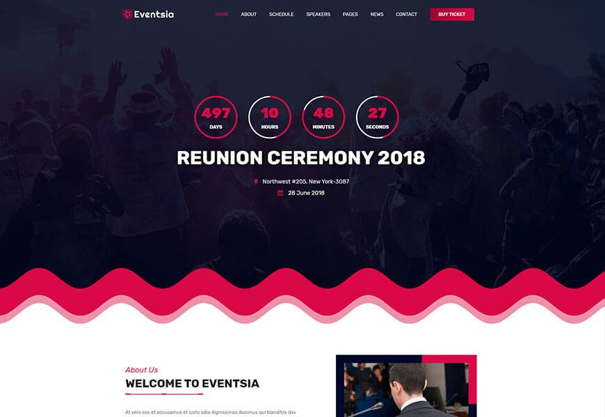 eventasia event website template
