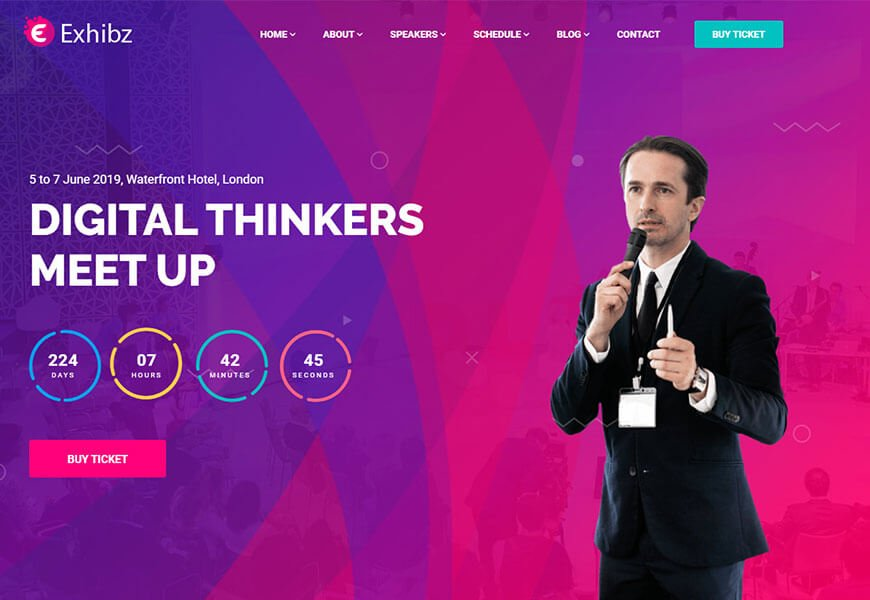 event website html template