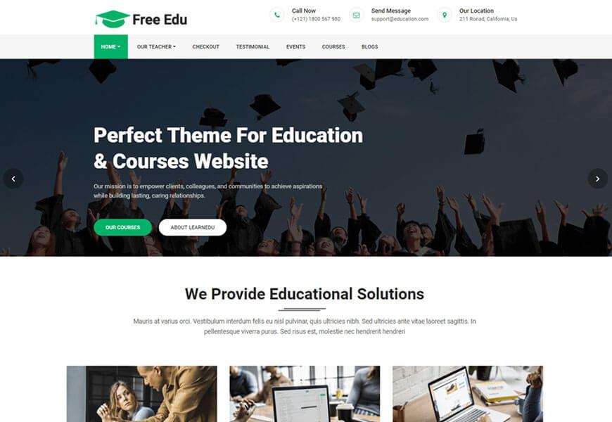 free education wordpress theme