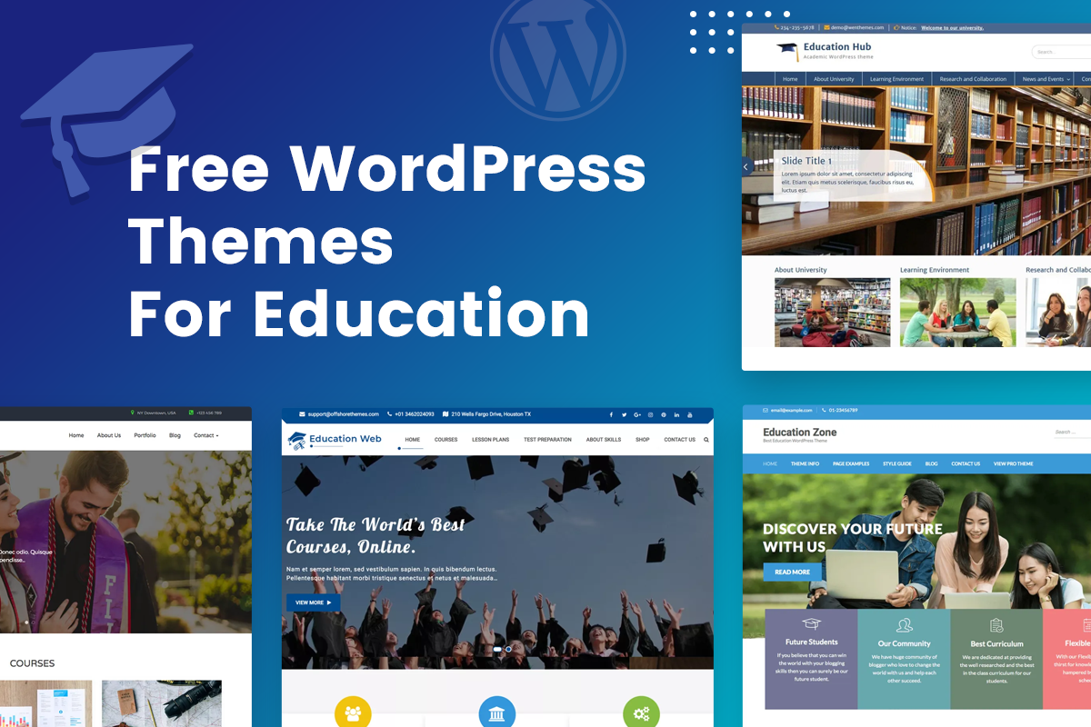 free wordpress themes for education