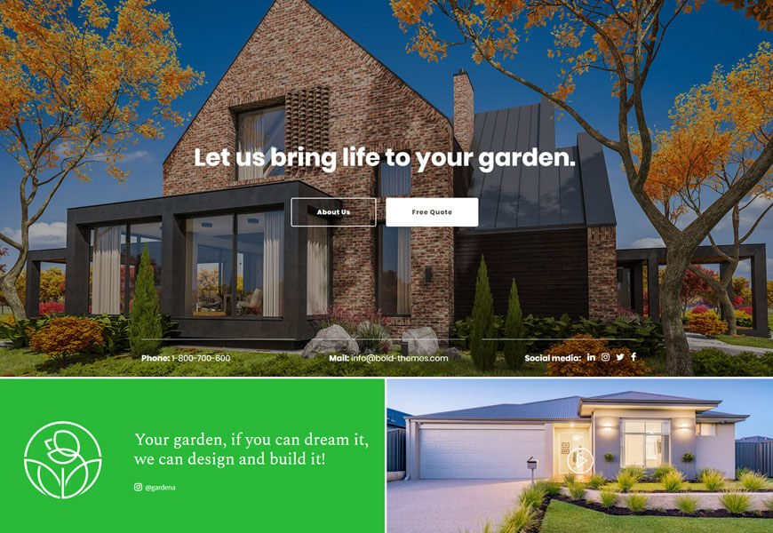 best wordpress theme for gardening & landscaping business